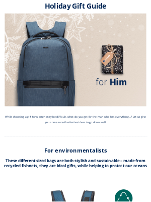 Pacsafe - 🎄🎁   Have you prepared a gift for him?  👨