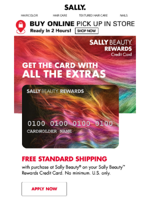 Sally Beauty - Receive $20 Off Your $50+ Purchase When You Apply & Are Approved Today!