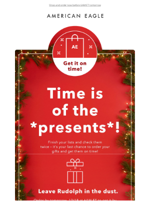 American Eagle Outfitters - ⏰ LAST DAY to get your gifts on time! ⏰