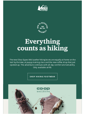 """REI - We Think """"Hiking"""" Has a Loose Definition"""