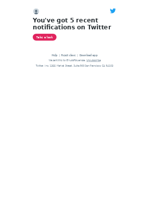 Twitter - @rudolfbluenose, check out the notifications you have on Twitter