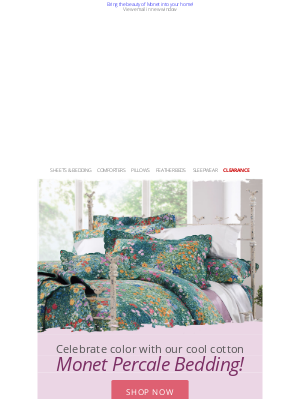 Cuddledown - Add an artistic touch with our Monet-themed decor