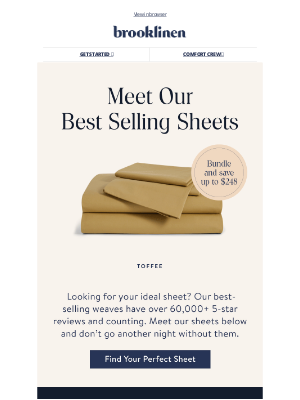 Brooklinen - George, find your perfect sheets!