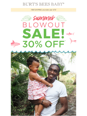 Burt's Bees Baby - 30% off select styles! Including shorts, rompers + tees!