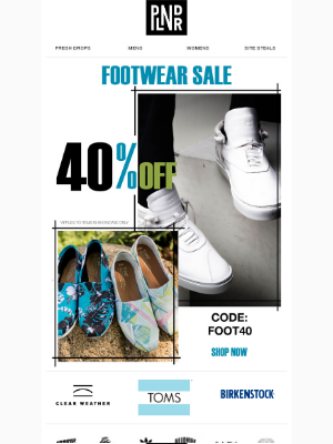 40% OFF | Friday Eve Footwear Sale