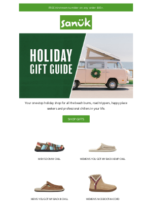 Sanuk - Holiday Gift Guide