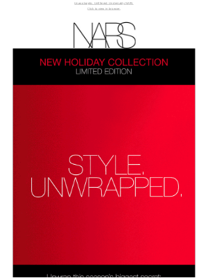 NARS Cosmetics (UK) - It's here: The Holiday 2021 Collection.