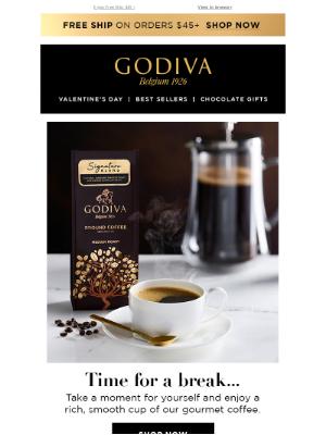 GODIVA - ☕ Break! Plus Up to 20% OFF.