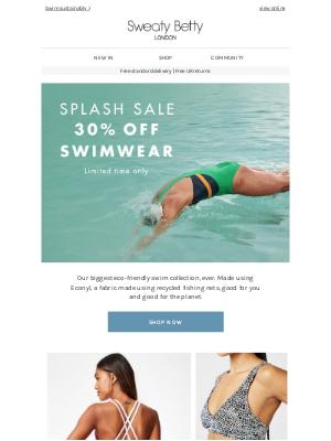 Splash sale: 30% off all swim  💦