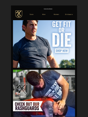 Ranger Up Military and MMA Apparel - Start the year with our Get Fit or Die Collection