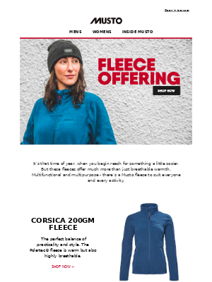 Musto UK - Musto fleeces are an essential