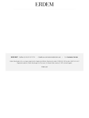 Erdem Moralioglu Ltd (UK) - Welcome to ERDEM