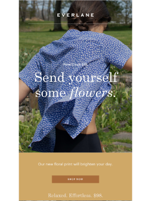 Clean Silk—In Fresh Floral Print