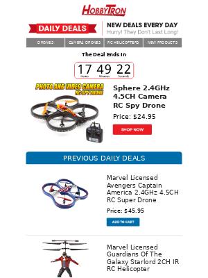 $24.95 -Sphere 2.4GHz 4.5CH Camera RC Spy Drone