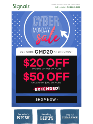 signals - Wish Granted! The Cyber Sale's been EXTENDED Another Day!