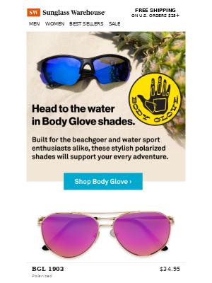 Floating through summer in Body Glove shades! 🌊