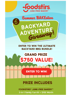 Foodstirs - Don't Miss out! Enter our July Giveaway!