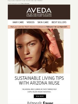 Aveda - Vegan beauty with Arizona Muse
