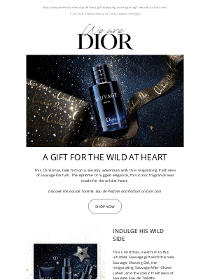 Dior UK - Sauvage, the gift for the wild at heart