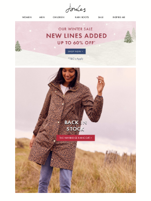 Joules (US) - It's our leopard print packaway, now back in stock!