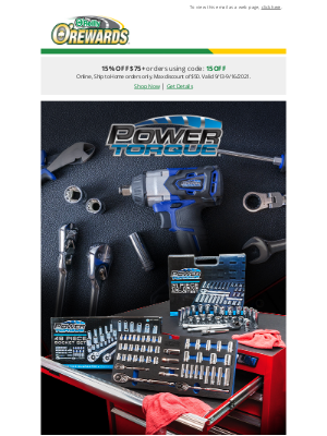 O'Reilly Auto Parts - Power Torque Tools: Made with the user in mind