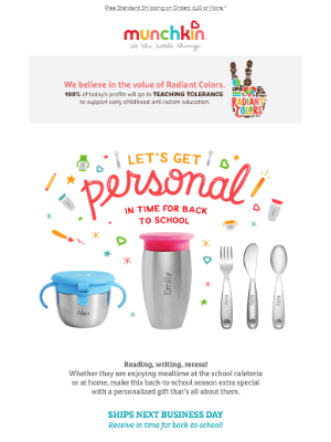 Personalized Cups & More for Back-to-School