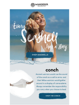 Natural Symbols: The Wanderer Bracelet Seashell Collection