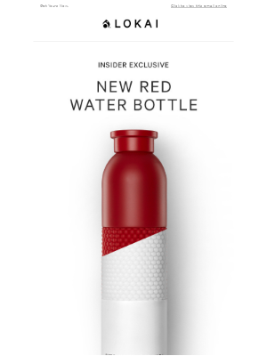 Limited Edition: Red Water Bottle