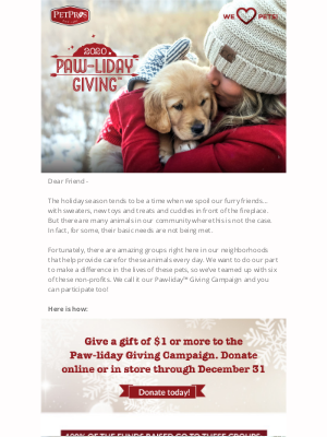 Pet Pros - Make Paw-liday wishes come true for pets in need!