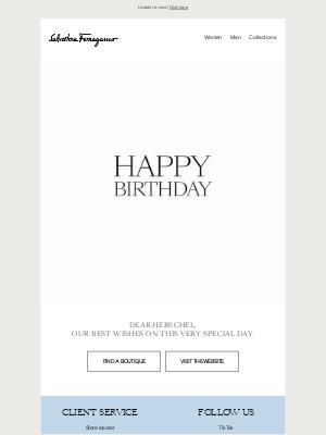 Salvatore Ferragamo USA - Happy birthday from Salvatore Ferragamo