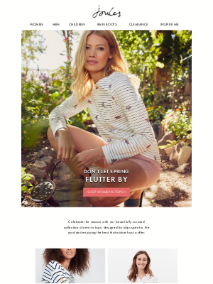 Joules (US) - We're all a-flutter for these new styles