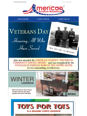 American Furniture Warehouse - Thank You to Those Who Have Served!