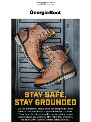 Georgia Boot - Stay Safe, Stay Grounded