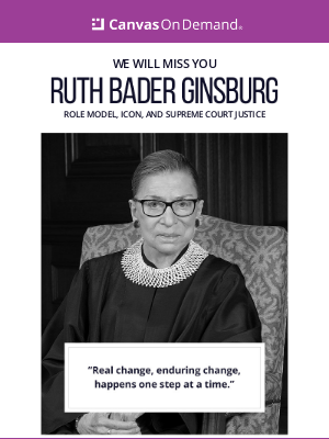 Canvas On Demand - Remembering the legacy of Ruth Bader Ginsburg