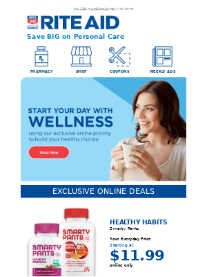 Personal Care Products for Less! Everyday Savings with Exclusive Online Pricing!