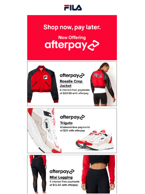 Fila Inc. - Instant Gratification with Afterpay