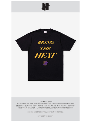 Undefeated - UNDEFEATED FINALS TEE AVAILABLE NOW