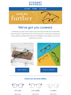 Eyemart Express - Looking for something specific?