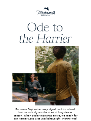 Tracksmith - The Harrier is Back