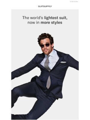 The world's lightest suit