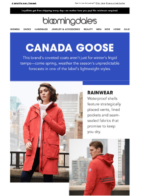Spring essentials from Canada Goose