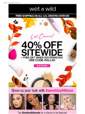 wet n wild - Black Friday Preview: 40% Off