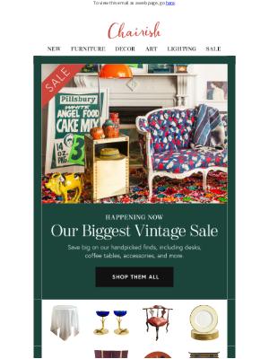 Chairish - Shop Our Biggest Vintage Sale of the Year