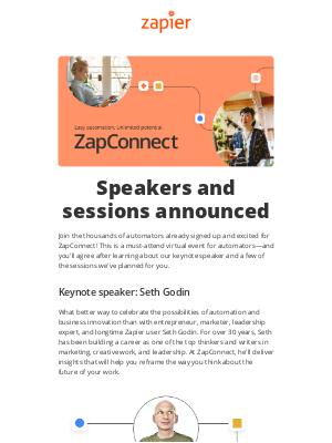Zapier - ZapConnect agenda is now live!
