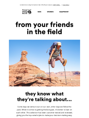 Mountain Hardwear - A message from your friends in the field.