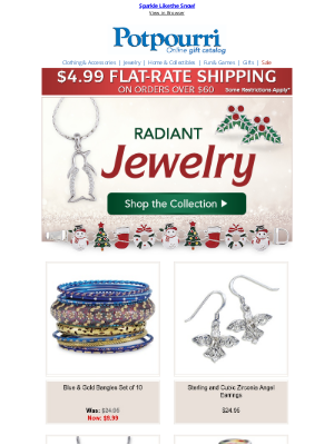 Potpourri Online Catalog - Sparkling Jewelry from Potpourri ~ Perfect to Give or Receive