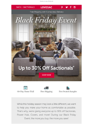 Lovesac - Create the Sactionals Setup of Your Dreams, Save up to 30%!