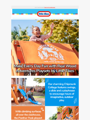 Little Tikes - Bring The Playground Home with New Real Wood Adventures Playsets by Little Tikes!