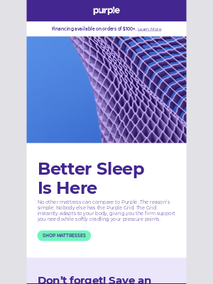 Purple - Imagine what better sleep can do for your life 🛏