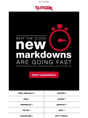 Don't delay: NEW MARKDOWNS